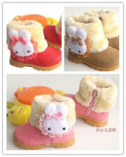Kids Girls Snow Boots shoes Toddler infant Winter Fur warm Shoes BO307-329
