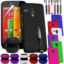 HARD BACK SKIN CASE COVER, LCD FILM, STYLUS PEN & SPEAKER FOR MOTOROLA MOTO G