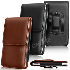 PU Leather Pouch Belt Holster Skin Case Cover For Huawei Mobile Phones