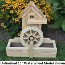 """Amish-Made Decorative Gristmill with 15"""" Waterwheel - Available in 9 Finishes"""