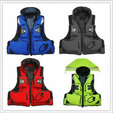 Blue Hooded Vest Buoyancy Aid Sailing Kayak Boating Fishing Life Jacket Stock In