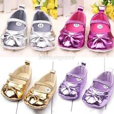 Baby Child Shoe Infant Toddler Girl Shoe Prewalker PU Leather Elastic Band Shoe
