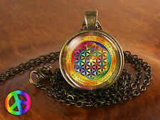 Sacred Geometry Tibetan Tibet Buddha Charm Charms Pendant Necklace Jewelry Gift