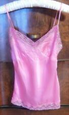 "NWT $59 NICKY HILTON ""CHICK"" BARBIE PINK CAMISOLE W/SKULL & CROSSBONES LACE-XS"