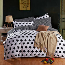 Star Single Double Queen King Size Bed Pillowcase Quilt Duvet Cover Set