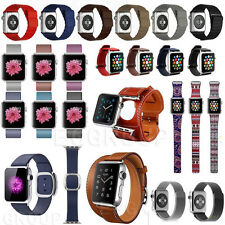 Various Genuine Leather,Stainless Steel, Nylon Watch Band Strap For Apple Watch