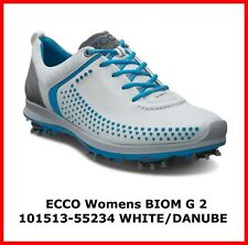 New Ecco Womens Golf Shoes BIOM G2 White Danube Spike EU36 38  $250