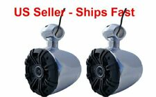 "KICKER 6.5"" WAKEBOARD TOWER 300 WATT SPEAKERS-Marine,UTV,RZR,Cart,Polaris,Jeep"