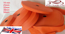 ORANGE 20 25 32 38 50mm POLYPROPYLENE WEBBING STRAPPING, BAGS, STRAPS, WEAVE