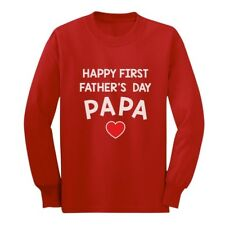 Happy Father's Day Papa - Gift for Grandpa Cute Long sleeve kids T-Shirt