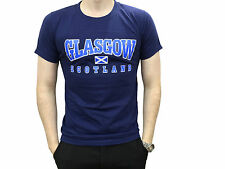 Scottish Navy Blue Glasgow Scotland T Shirt Brand New With Tags