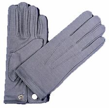 GLOVES NYLON W SNAP MENS GREY REENACTMENT ACCESSORIES NEW FREE SHIPPING IN US