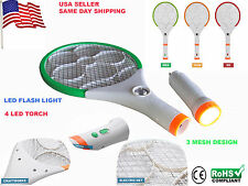 Rechargeable Bug Zapper Mosquito Insect Electric Fly Swatter Racket CE Certified