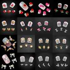 10Pcs 3D Nail Art Glitter Decoration Alloy Rhinestones Nail Studs 41 Designs