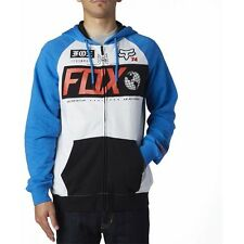 Fox Racing Maneuver Mens Hoody Zip - Heather Blue All Sizes