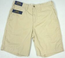NWT $75 Polo Ralph Lauren Relaxed Fit Light Tan Beige Chino Shorts Men 32 40 NEW
