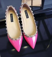 Mary Jane Ballerinas Flats with Studs Leather Shoes Size 37 - 41