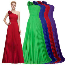 GK Wedding One Shoulder Pleated Party Gown Prom Ball Evening Dress Bridesmaids