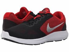 NIKE REVOLUTION 3 BLACK RED SILVER MENS US 14 & 15 RUN SHOES ** $29.95 AUD POST