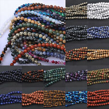 Wholesale 5-40Pcs Glossy Natural Gemstone Round Loose Spacer Beads 4-12MM DIY