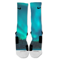Nike Elite socks custom Galaxy Northern Lights Shoe Blue socks
