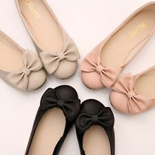 BN Womens Bowed Wedding Ballet FLATS BALLERINAS Casual Comfy Walking Shoes