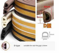 Self Adhesive D Type Window Door Draught Draft Excluder Strip Foam tape