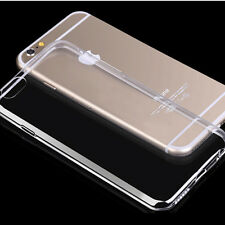 Transparent Clear Silicone Slim Gel Case and Screen Protector for iPhone 6S / 6