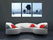 Oil Painting HD Picture Print On Canvas Wall Decor Art, Star Wars 3PC AT-AT