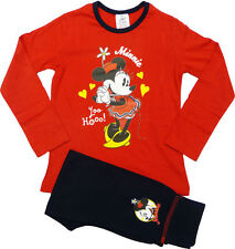 Disney Minnie Mouse Girls Pyjamas, Red and Navy, 4-10 Years
