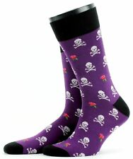 Mens Fine Gauge Cotton Skull and Rose Socks from Corgi