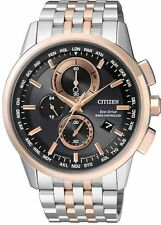 Citizen Eco-Drive Global Radio Controlled Chrono Sapphire Mens Watch AT8116-65E