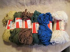 Vintage Coats and Clark Rug Yarn - 6 Different Colors - rayon/cotton - 210 Yard
