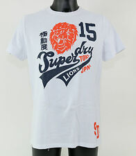 SuperDry Shirt - MS1FA566S 01C - 'JUNGLE ENTRY LIONS' T-Shirt - OPTIC - white