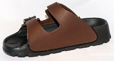 Birki Sandals by Birkenstock for Kids Boys Haiti Basic Brown Narrow