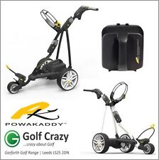 2016 Powakaddy FW3 Electric Golf Trolley Black/White 18 Hole Battery & Charger