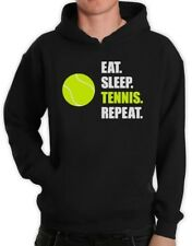 Eat Sleep Tennis Repeat - Tennis Player Gift Sports Hoodie Novelty Present