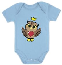 Little Baby Girl Cute Owl with Crown Bodysuit Gift Idea Baby Onesie Infant