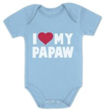 I Love My Papaw - Father's Day Gift for Grandpa Baby Bodysuit Papa