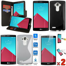 LG G3/ LG G4 Combo 5 ACCESSORIES Wallet PU Case + TPU Case + Tempered Glass