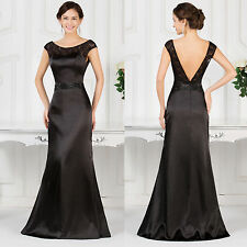 Vintage Long Satin Masquerade Ball Gowns Formal Pageant Party Evening Prom Dress