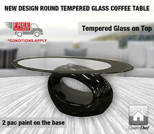 New Design Round Tempered Glass Coffee Table