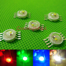 3w 4w Royal Blue RGB RGBW high power led bead chip for Lamp light 1 5 10 50PCS