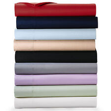 """Real 400TC 100% Egyptian Cotton Ultra Soft Solid 6PC Sheet Set 18""""Deep CA Size"""