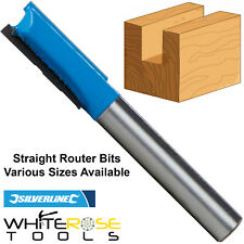 "Silverline Individual 1/4"" TCT Straight Metric Cutter Router Bit Kitchen"