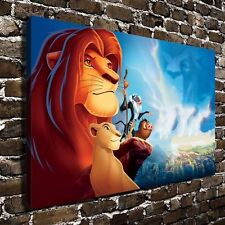 Canvas Paintings Cartoon Poster Print for Living Room Wall Lion King 16x24inch