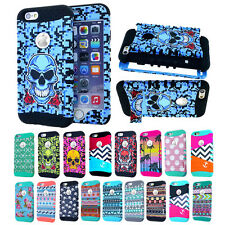 "For Apple iPhone 6 4.7"" Design Triple Layer Hybrid Durable Kickstand Case Cover"