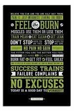 Gym Motivational Quotes Poster New - Laminated Available