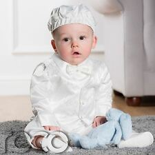 Baby Boys Ivory Romper, Christening Outfit, Romper, Boys Rompers