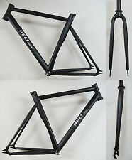 Heli-Bikes Track Pista Fixie Fixed Gear Track bike Frames black new 54cm + Fork